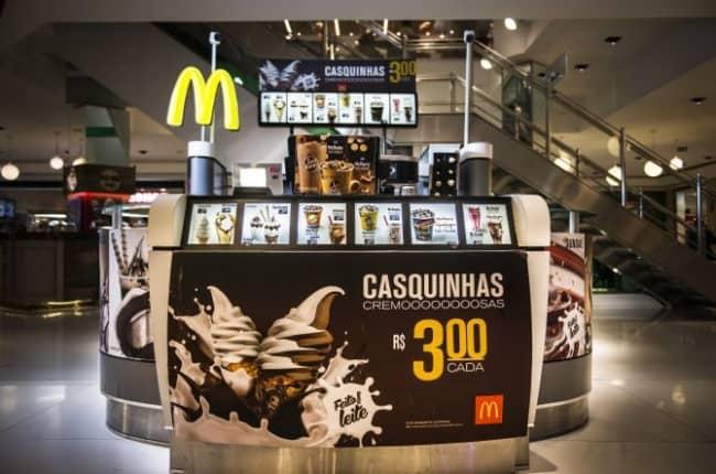 franquia de sorvete McDonalds
