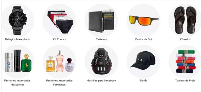 loja online para comprar roupas e acessorios importados