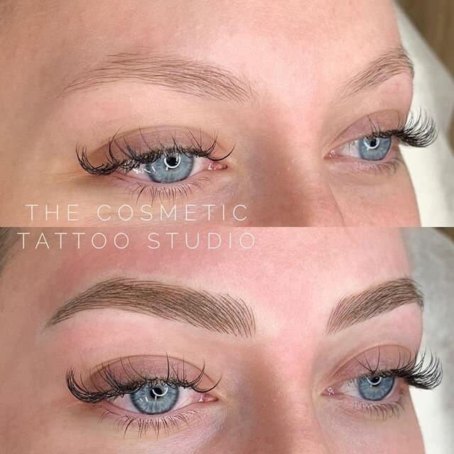 antes e depois de micropigmentacao em sobrancelhas claras