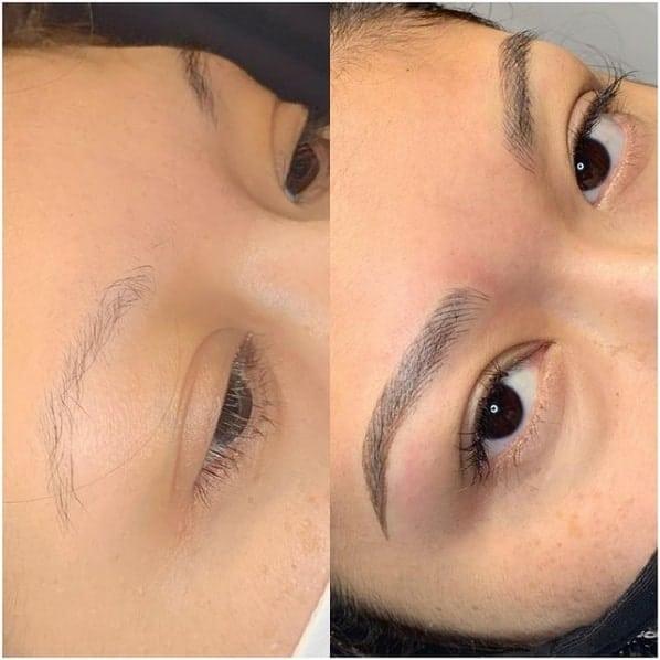 foto de antes e depois de micropigmentacao fio a fio