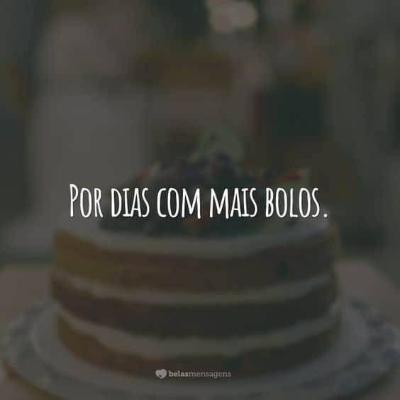 frase curta para bolo