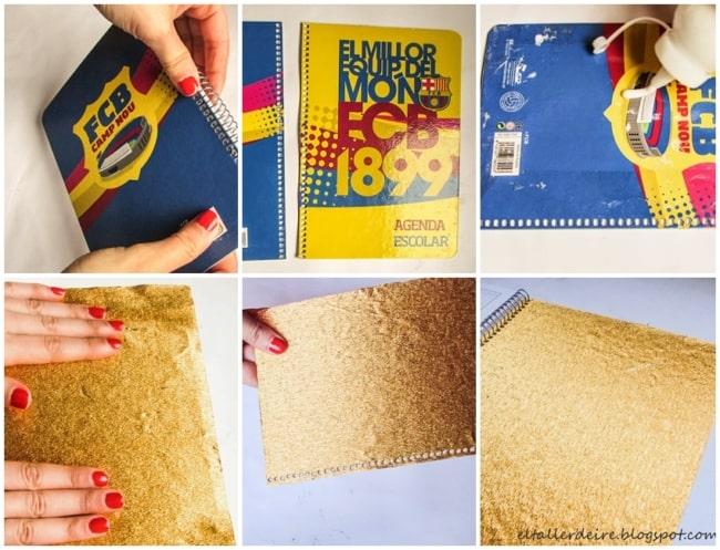 passo a passo para fazer livro de ouro