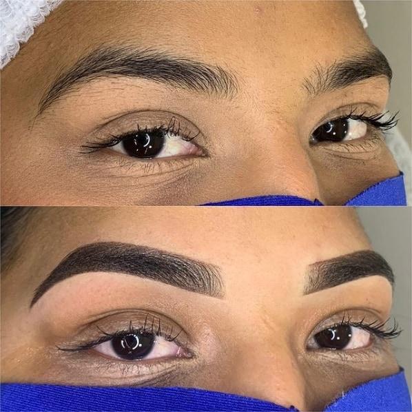 resultado de micropigmentacao nas sobrancelhas