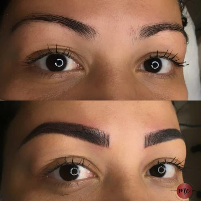 resultado de micropigmentacao esfumada nas sobrancelhas