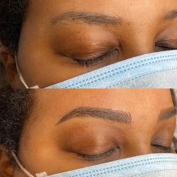 resultado de micropigmentacao nas sobrancelhas fio a fio