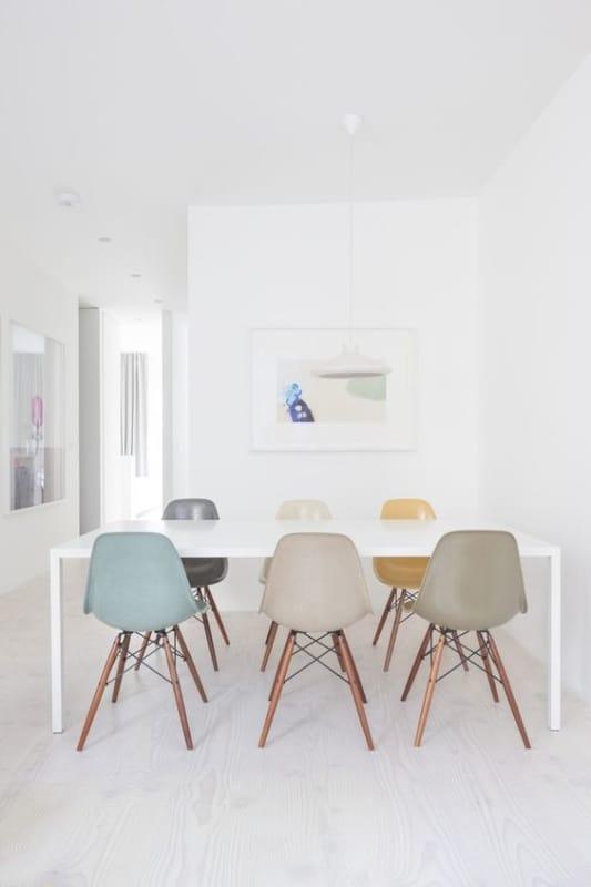 Cadeira Eames em diferentes tonalidades para agregar na decoracao da sua sala