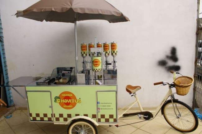 Food bike de churros e uma opcao viavel e de baixo custo para alavancar seu negocio