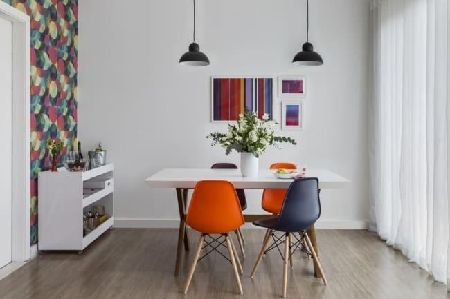 Voce pode usar dois tipos de cores dando um toque moderno na decoracao