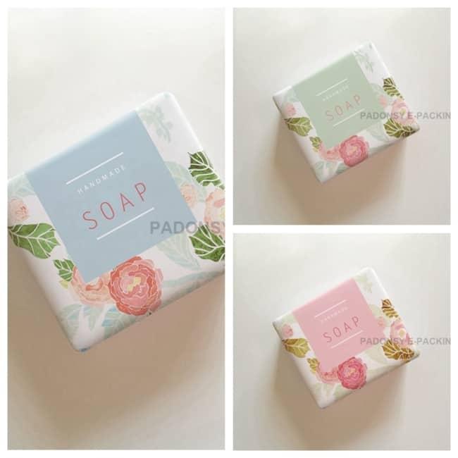 embalagem floral para sabonete artesanal