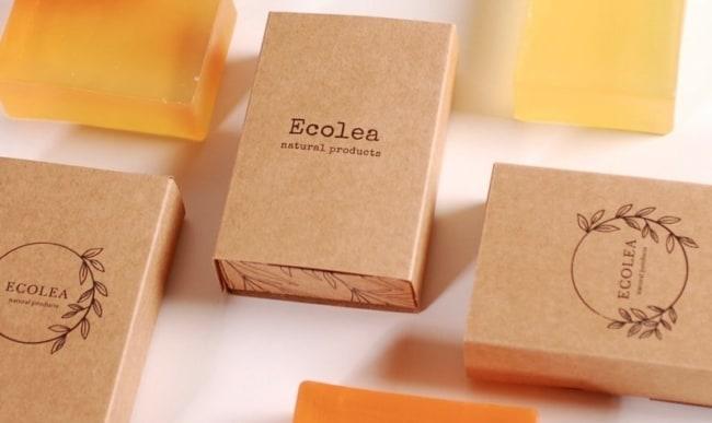 embalagem para sabonete artesanal com papel kraft