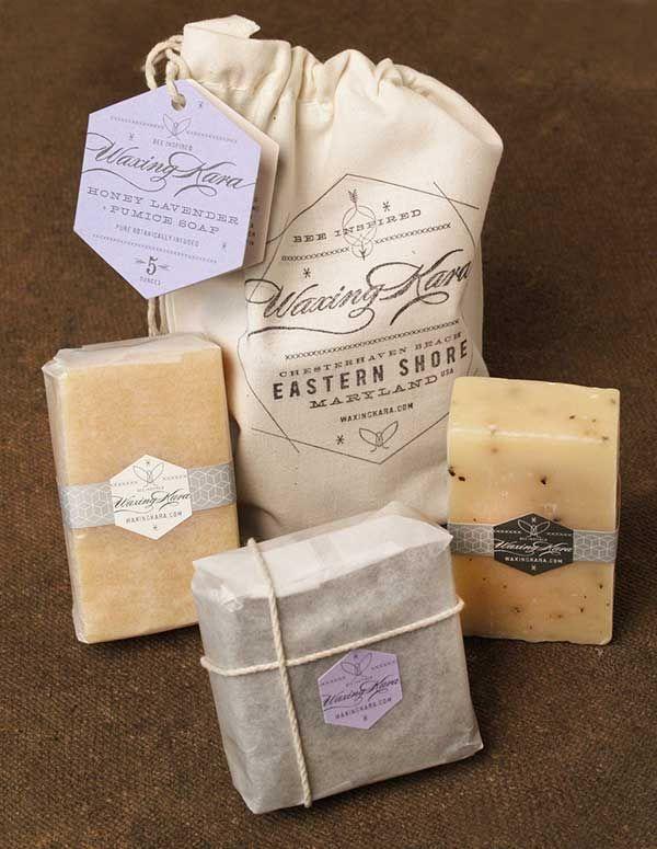 embalagem para sabonete artesanal com saquinho de algodao