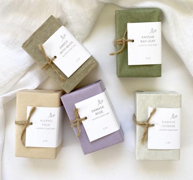 embalagem para sabonete artesanal simples