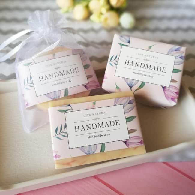 ideias de embalagem floral para sabonete