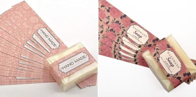 rotulo floral de sabonete artesanal