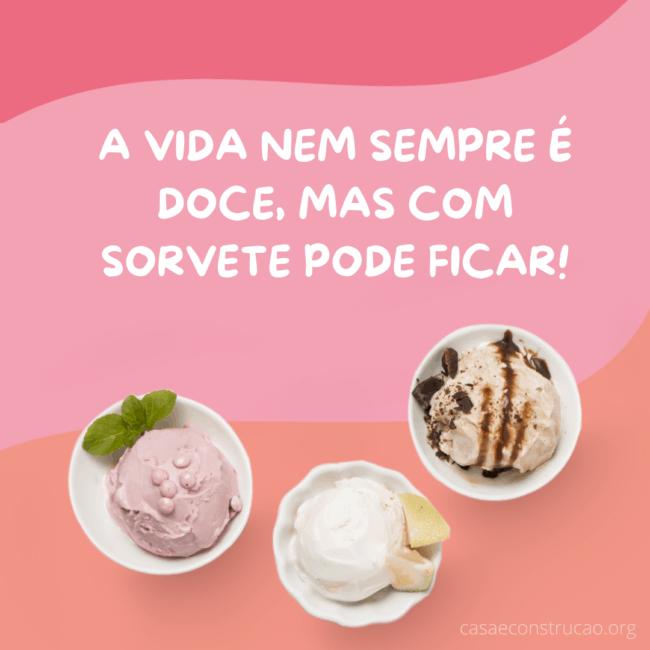 frase para propaganda de sorvete