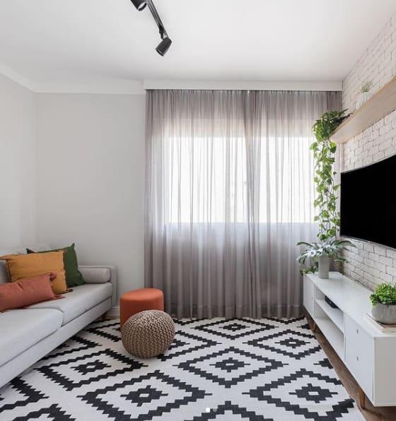 sala com parede calopsita suvinil