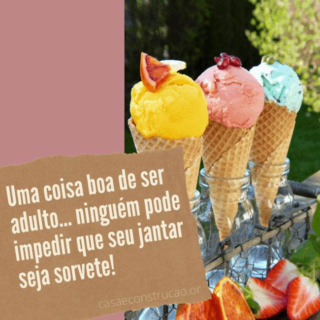 frase divertida para divulgar sorvete
