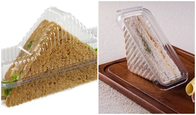 tipo de embalagem para vender sanduiche natural