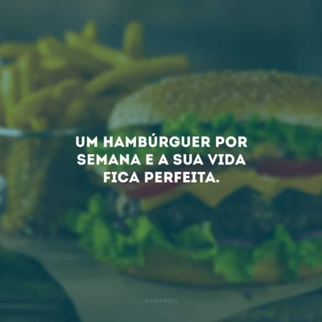 frase simples para propaganda de hamburguer