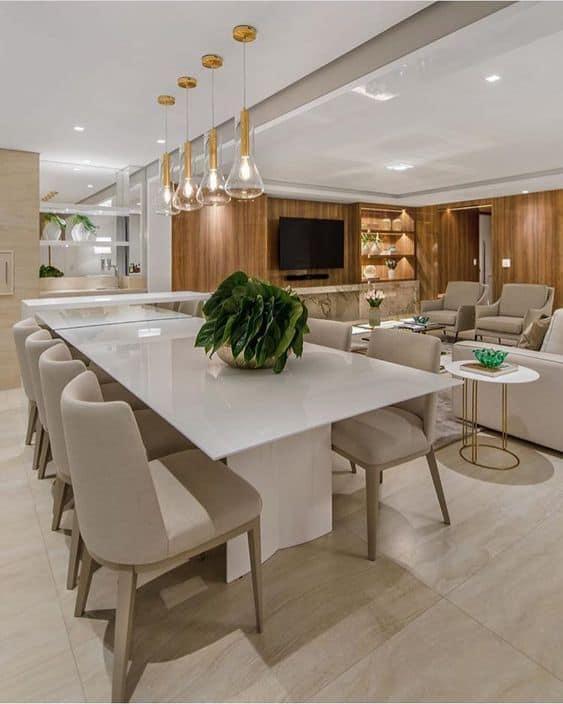 sala de jantar off white