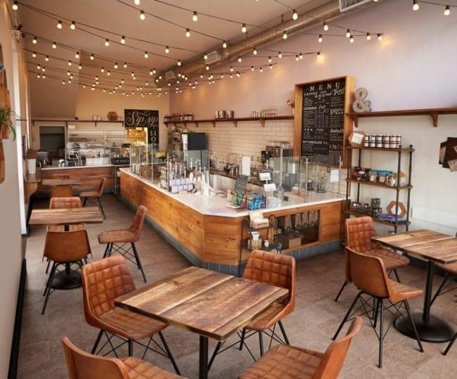 decoracao com luzinhas para cafeteria gourmet