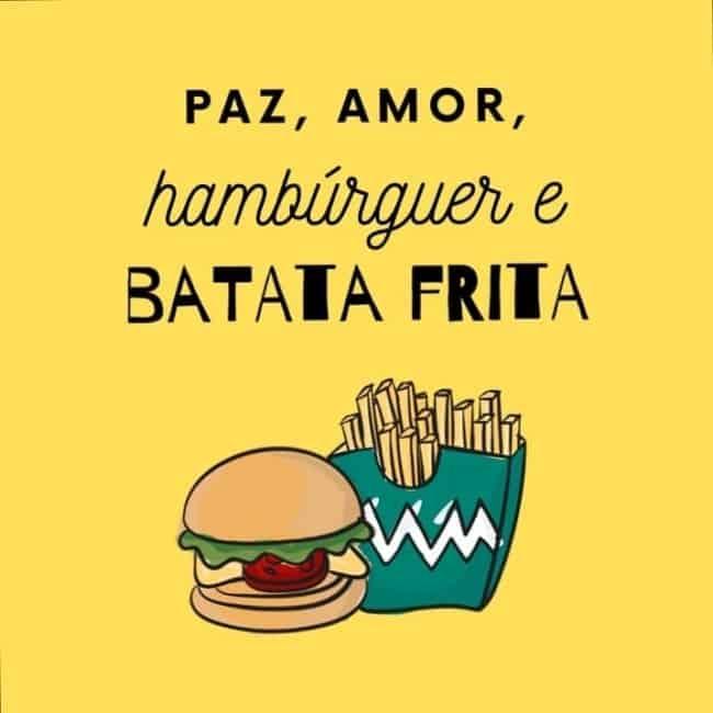 ideia de frase para hamburguer