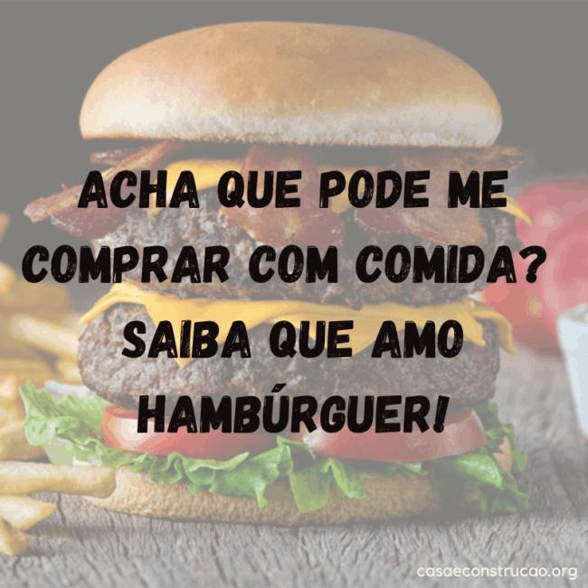 frase divertida para hamburguer
