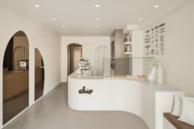 loja de biscoitos com decoracao clean e moderna