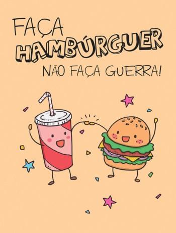 frase simples e divertida para hamburguer