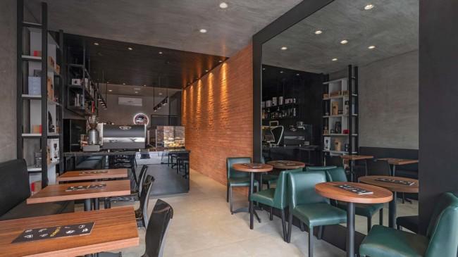 cafeteria gourmet moderna e pequena
