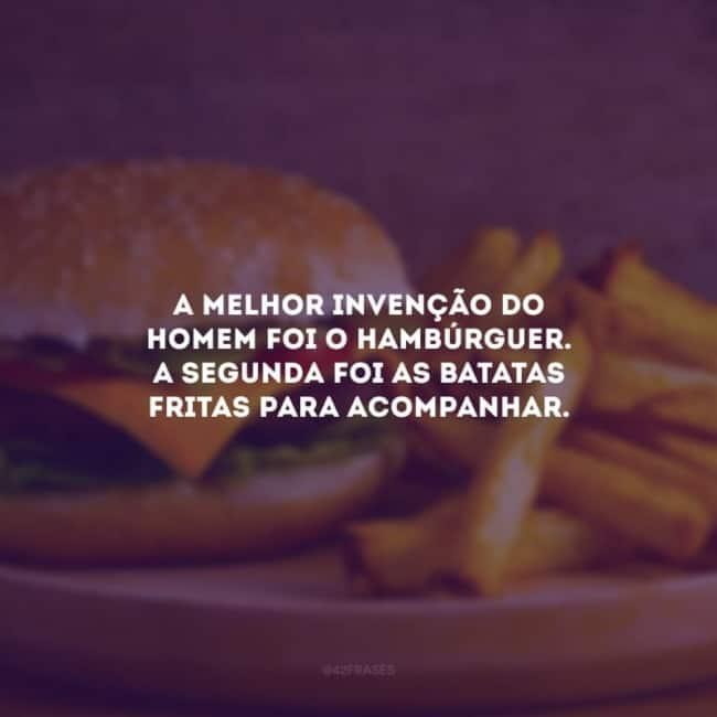 frase para divulgacao de hamburguer