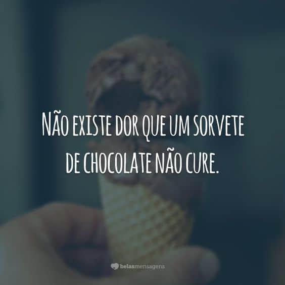 frase para sorvete de chocolate