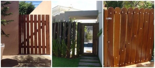 portao social de madeira