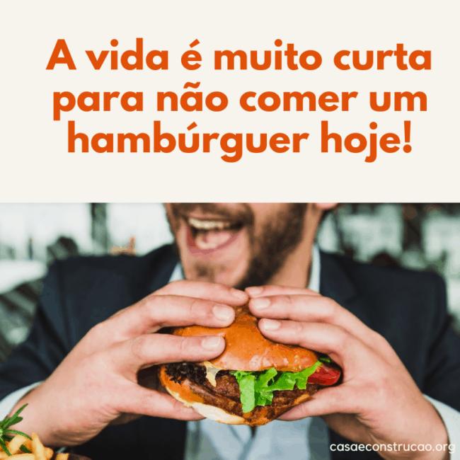 frase de propaganda para hamburgueria