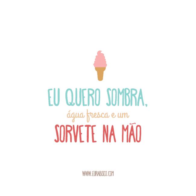 frase simples para divulgacao de sorveteria