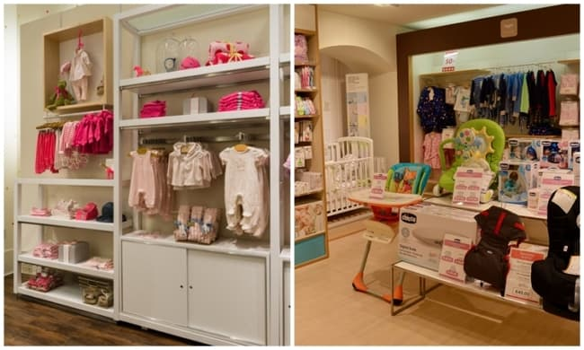 lista com nomes de lojas de bebe