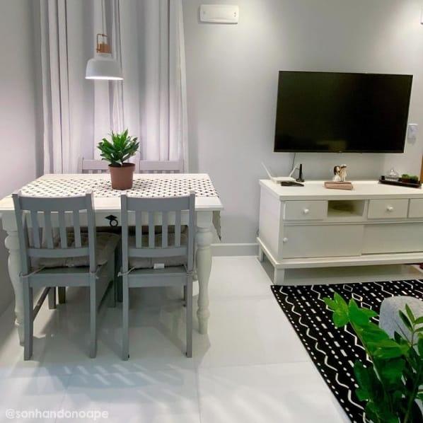 sala de estar e jantar com tinta calopsita suvinil