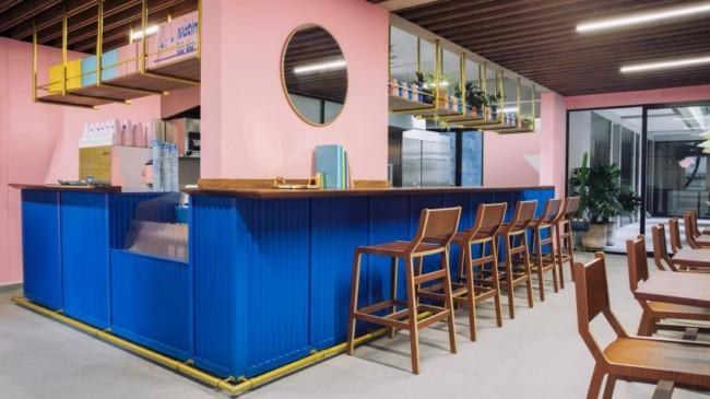 ideia para decoracao moderna de cafeteria gourmet
