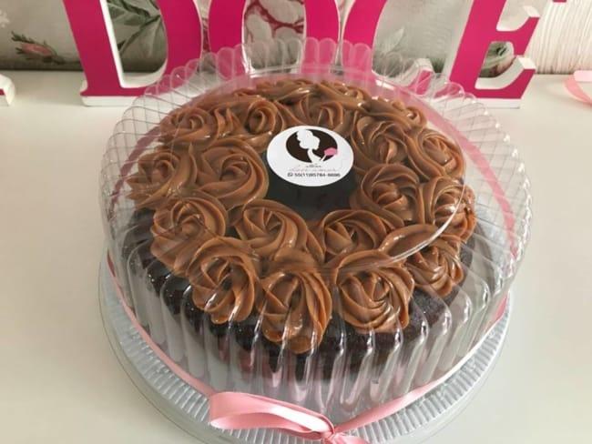modelo de embalagem para bolo