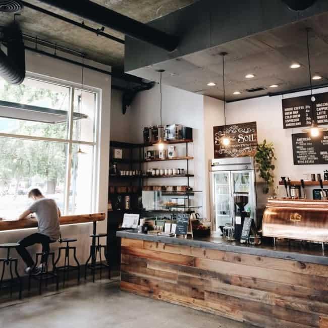 estilo industrial para cafeteria