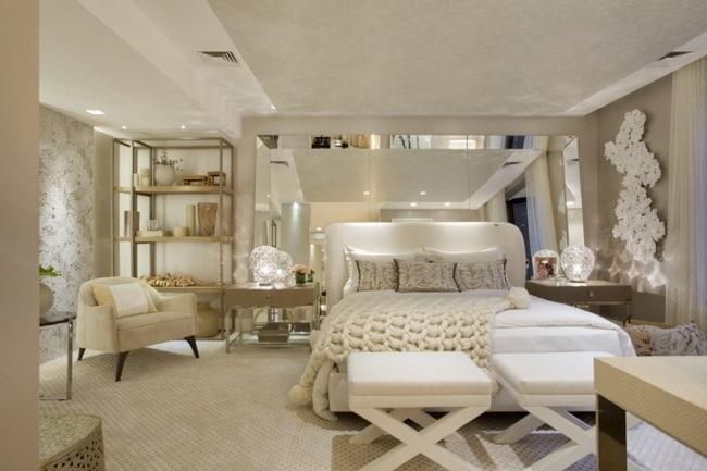 quarto de casal clean e off white
