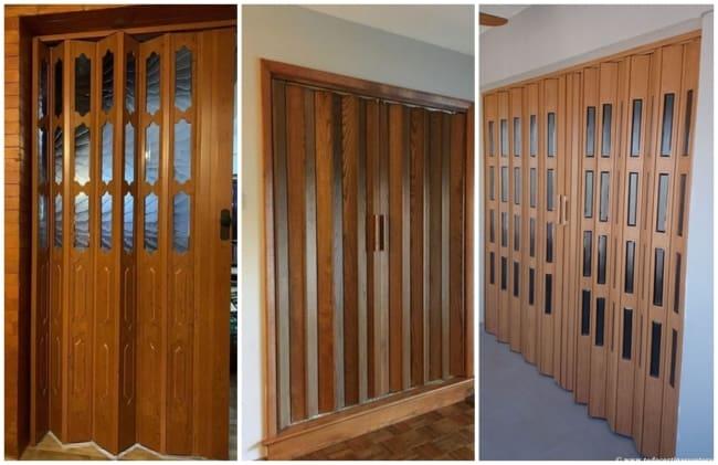 porta grande sanfonada de madeira