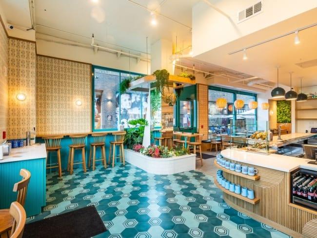 cafeteria gourmet com estilo retro