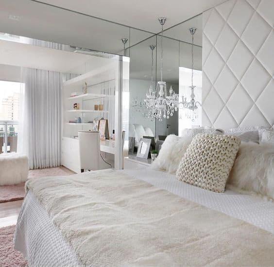quarto de luxo off white