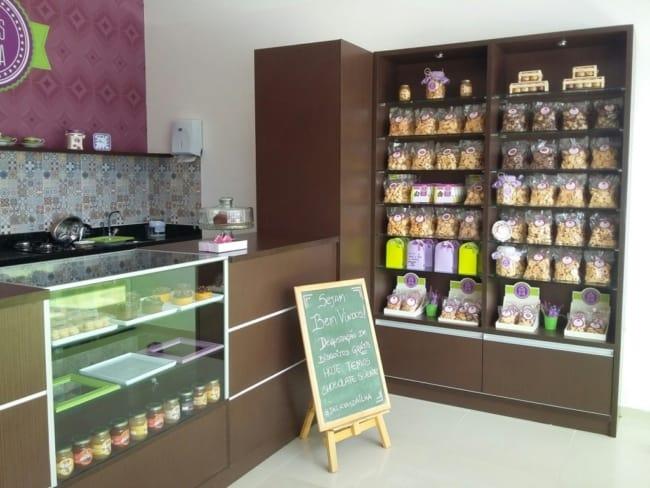 estilo simples para loja de biscoitos pequena