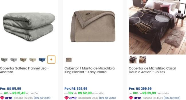 onde comprar roupa de cama online