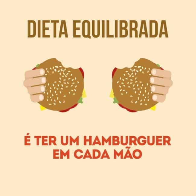 propaganda divertida para hamburgueria