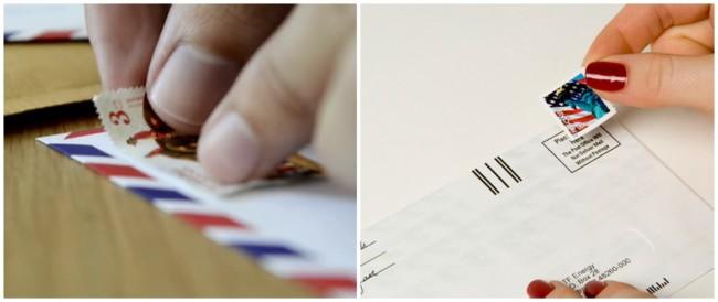 trabalho de casa envelopando cartas