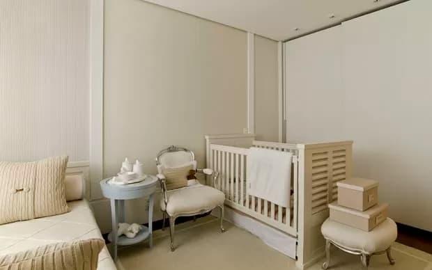 quarto de bebe com berco off white