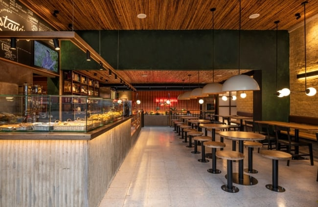 cafeteria gourmet com estilo rustico